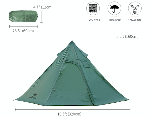 OneTigris Iron Wall hot tent