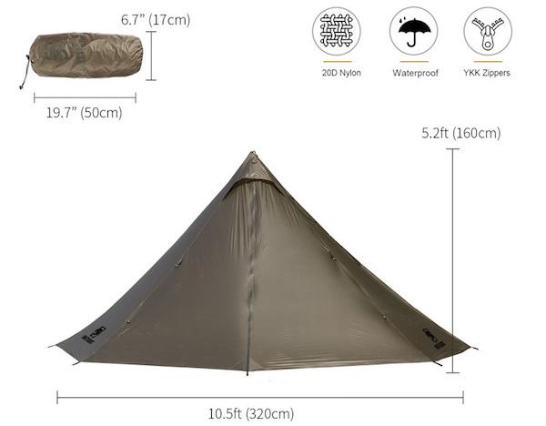 OneTigris Smokey Hut hot tent
