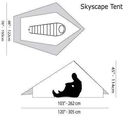 Six Moon Designs Skyscape dimensions