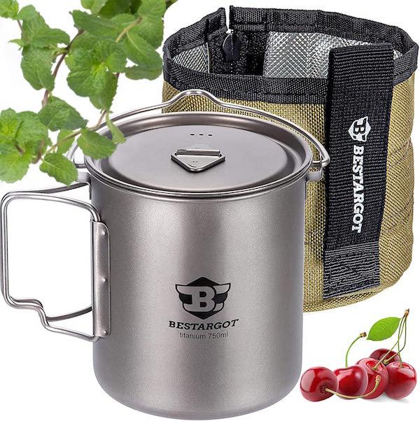 Bestargot titanium camping mug