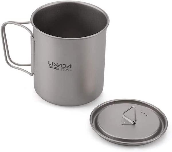 Lixada titanium camping mug 750ml